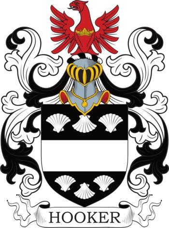HOOKER family crest