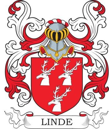 LINDE family crest