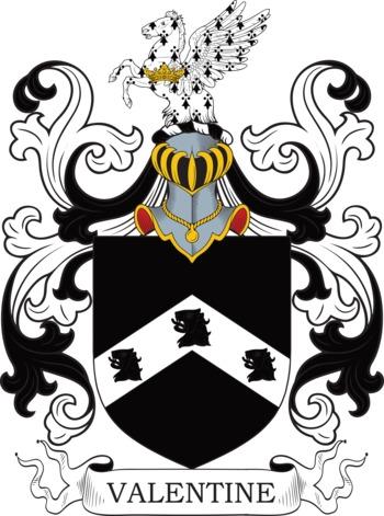 VALENTINE family crest