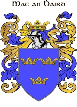 WARDE family crest